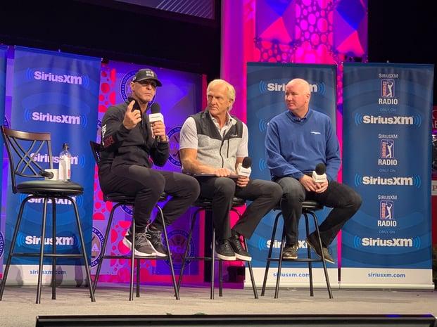 Coach Joey D, Greg Norman and John Katrek