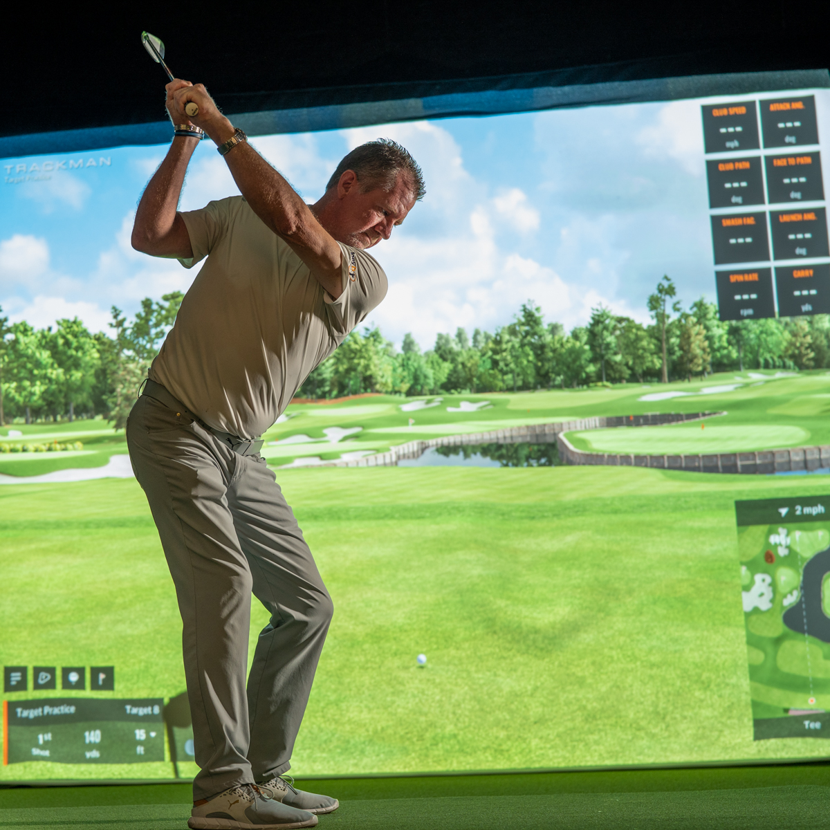 golf simulation training program