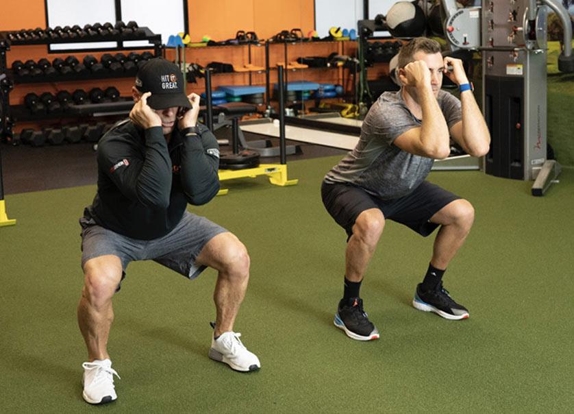 golf fitness exercises air squat