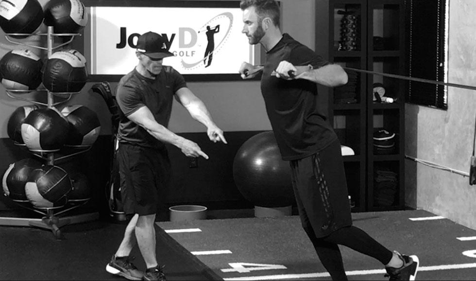 coach joey d training dustin johnson